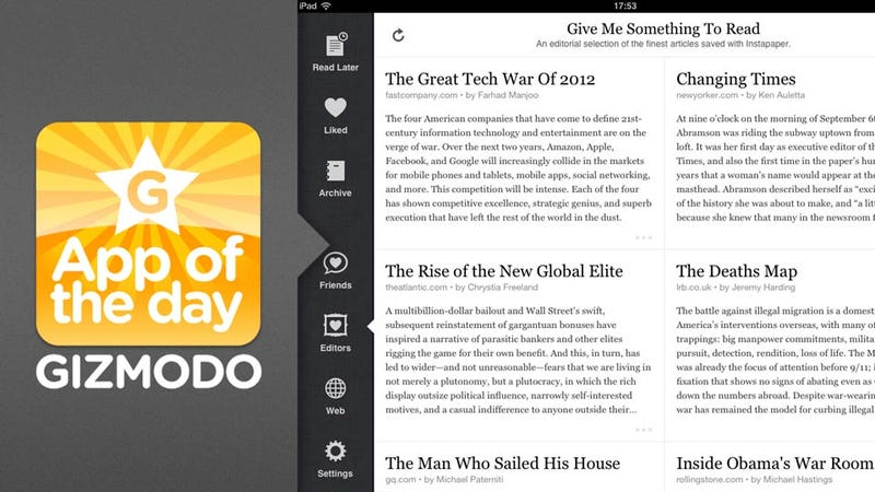 Instapaper for iPad and iPhone: The Way You Read the Internet Got an Upgrade