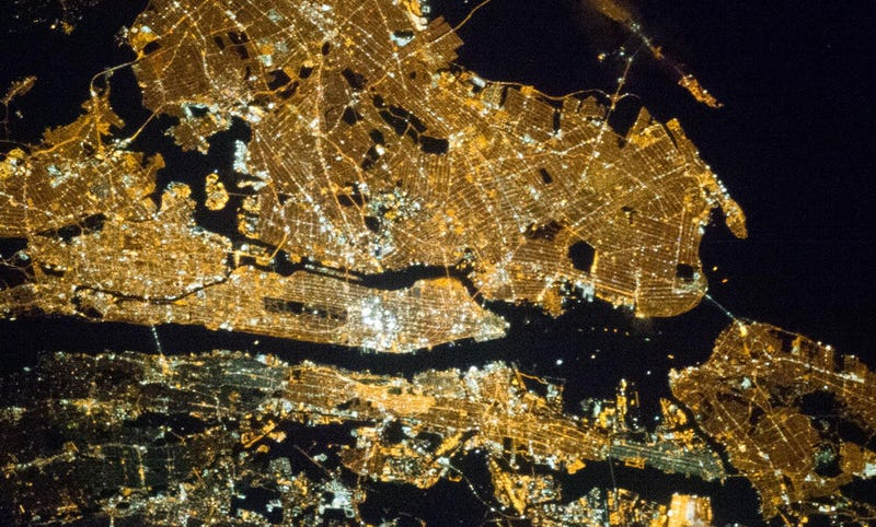 New York Sure Looks Beautiful From Space at Night