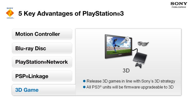 Sony To Upgrade PS3 Consoles To 3D