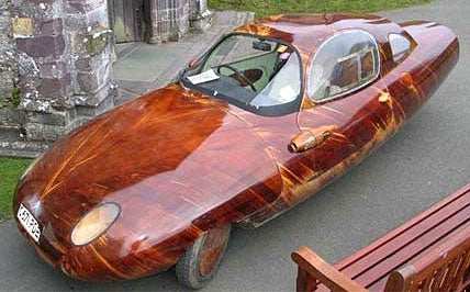 Handmade Wooden-Skinned Car Is a Craftsman's Masterpiece