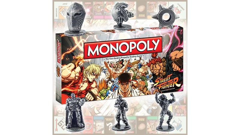 These are the Six Playing Pieces of Street Fighter: Monopoly