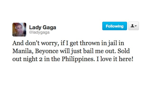 Lady Gaga Has Beyonce Ready with Bail Money