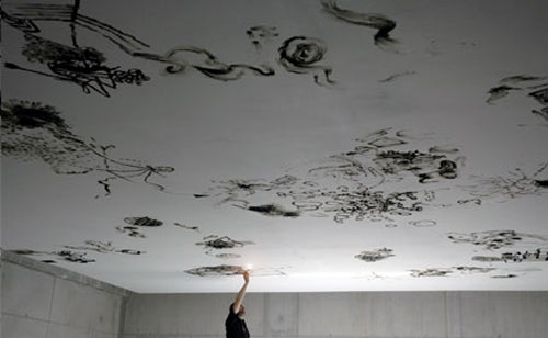 Modern Day Michelangelo Paints Ceilings With BIC Lighter