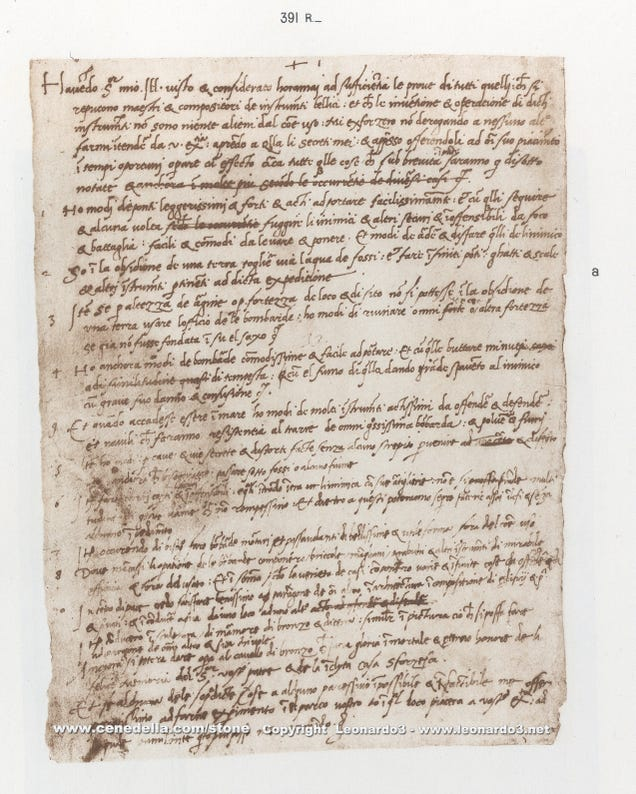 Leonardo da Vinci's Hand-Written Resume Will Make You Feel Inadequate