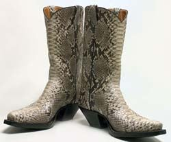 Cowboy Boots + Police Car = Wrecked Convenience Store