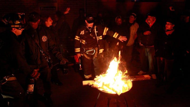 NYFD Break Up Bonfire Party in Manhattan's East Village