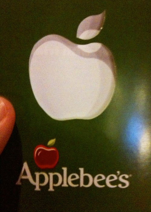 PSA: Applebee's Gift Card Are Not Redeemable on iTunes