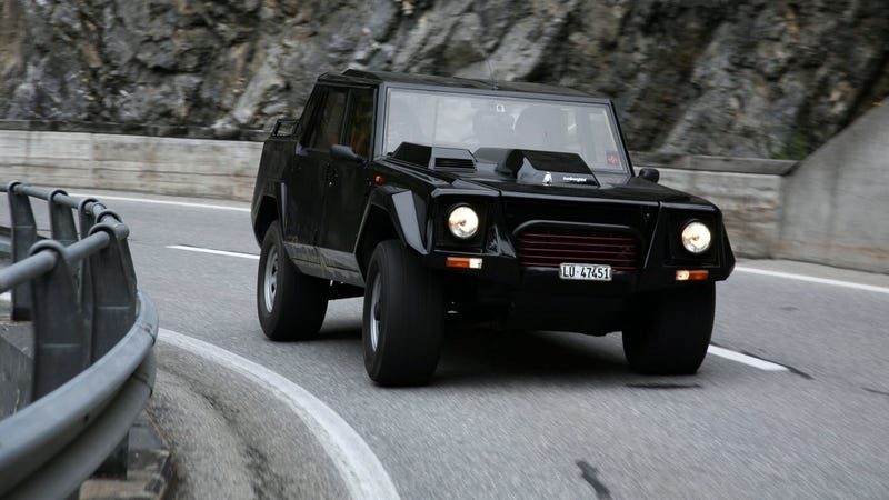 When You See A Lamborghini LM002 In Your Mirror, Go Ahead And Moon Them