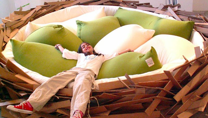 Giant Nest Bed Fulfills All My Big Bird Fantasies