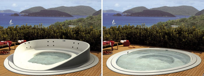 Your Hot Tub Hijinks Are Spill-proof With This Concept Bath
