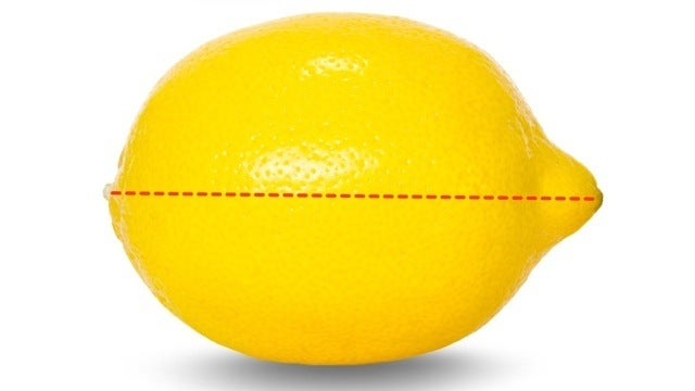 Cut Lemons Lengthwise to Get More Juice