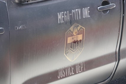 Judge Dredd set pics