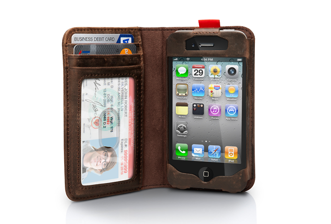 BookBook Case Makes Your iPhone 4 Smell of Rich Mahogany