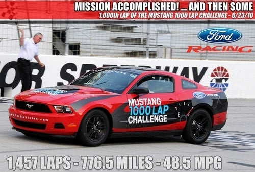 Eat This, Hybrids: Ford Mustang V-6 Gets 48.5 Mpg At Bristol Speedway