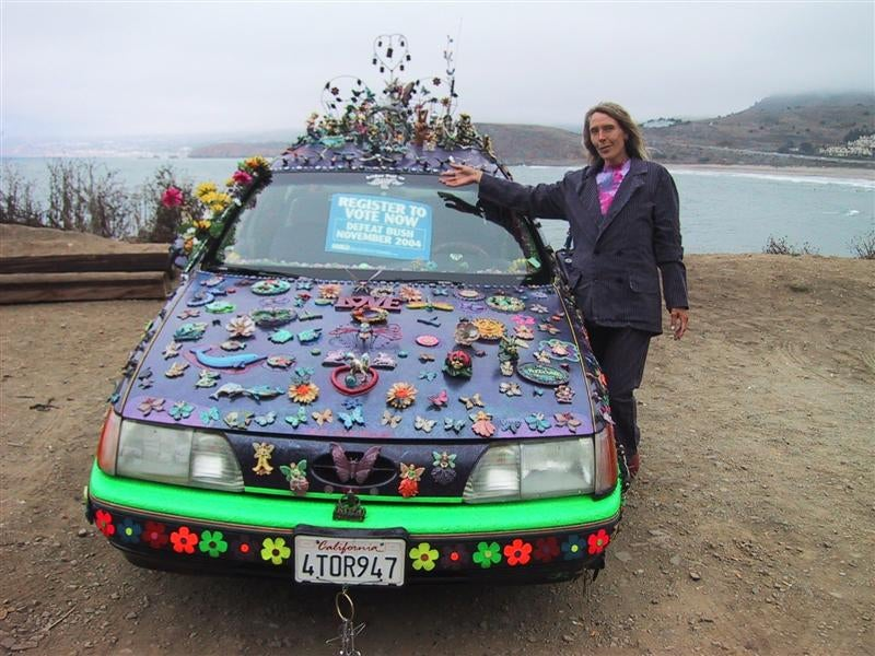 Groovalicious Purple Princess Of Peace Art Car Falls On Hard Times, Faces Crusher