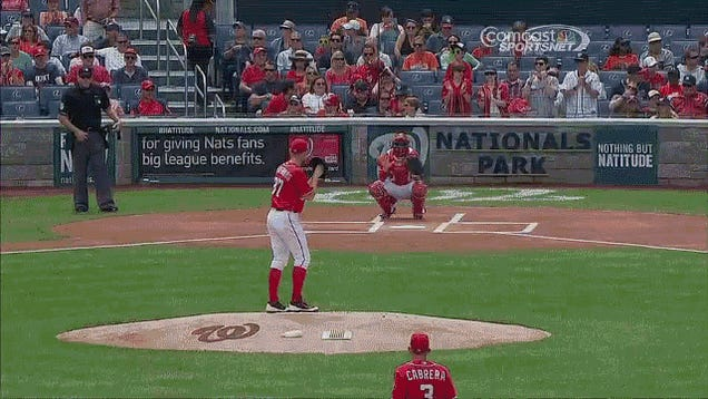 Little Girl Gives No Shits, Runs In Front Of Stephen Strasburg's Warmup