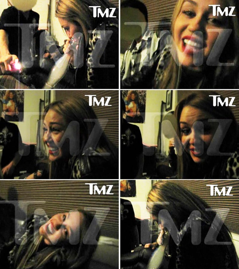 Miley Cyrus Bong Rips Caught on Video