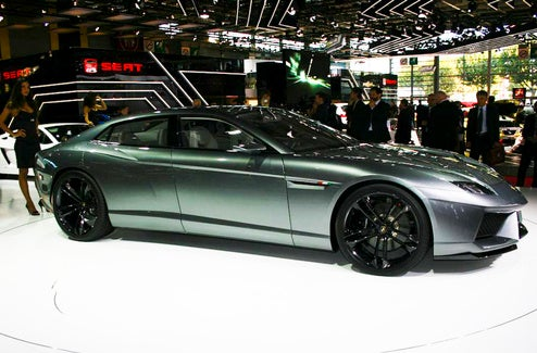 First Lamborghini Estoque Concept Live Shots: A Four-Door For Profit!