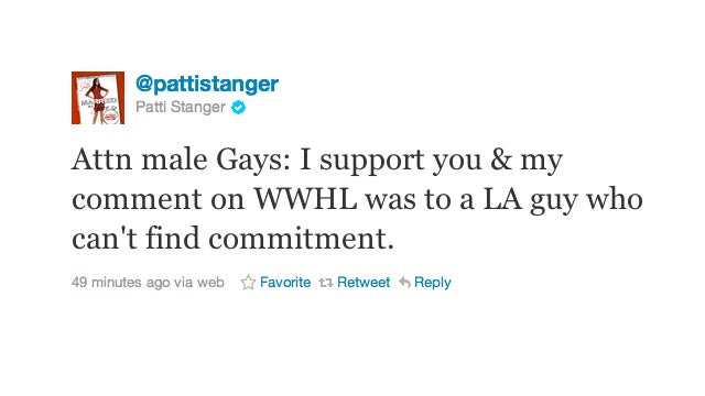 Patti Stanger Doesn't Have Anything Against The Gays, She Swears!