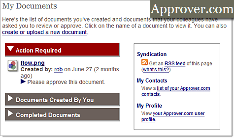 Approver document collaboration