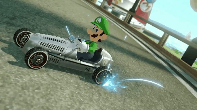 Now You Can Drift A Classic Silver Arrow In Mario Kart 8