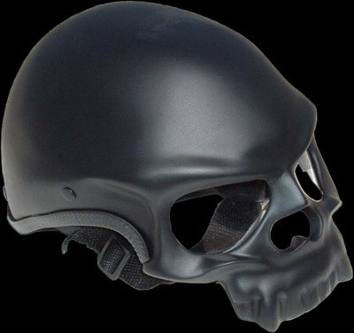 A Skull Motorcycle Helmet to Match Your Faux Hells Angels Jacket