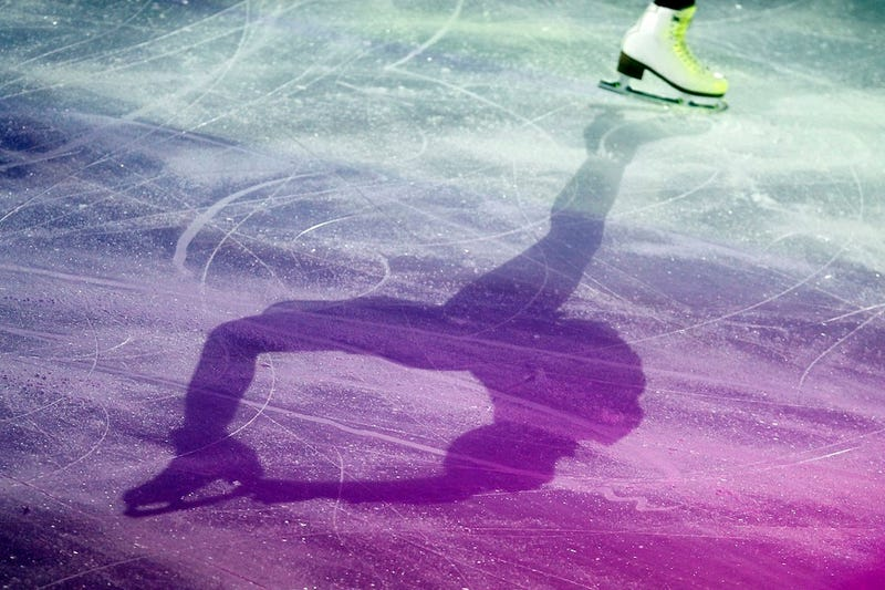 Shadowy Figure Skating