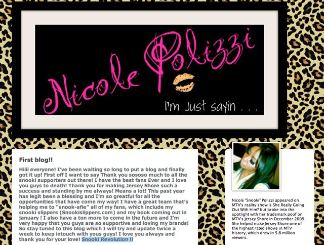 The Infinite Possibilities Of Snooki's New Tumblr