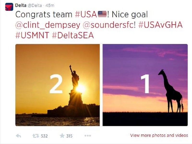 Delta Just Tweeted A Giraffe To Represent Ghana, Because Africa