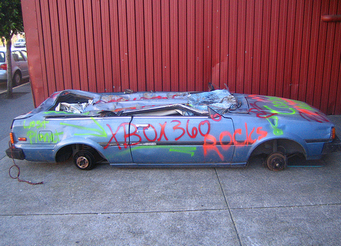 get spray paint off your car