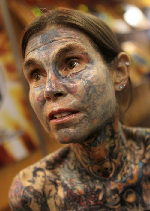 Woman Wins Record For Most Heavily Tattooed