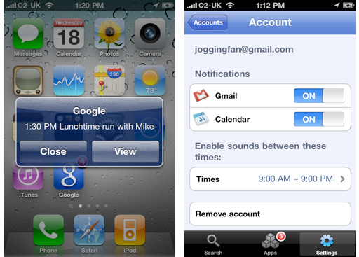Google Mobile Brings True iPhone Push Notifications for Gmail and Google Calendar