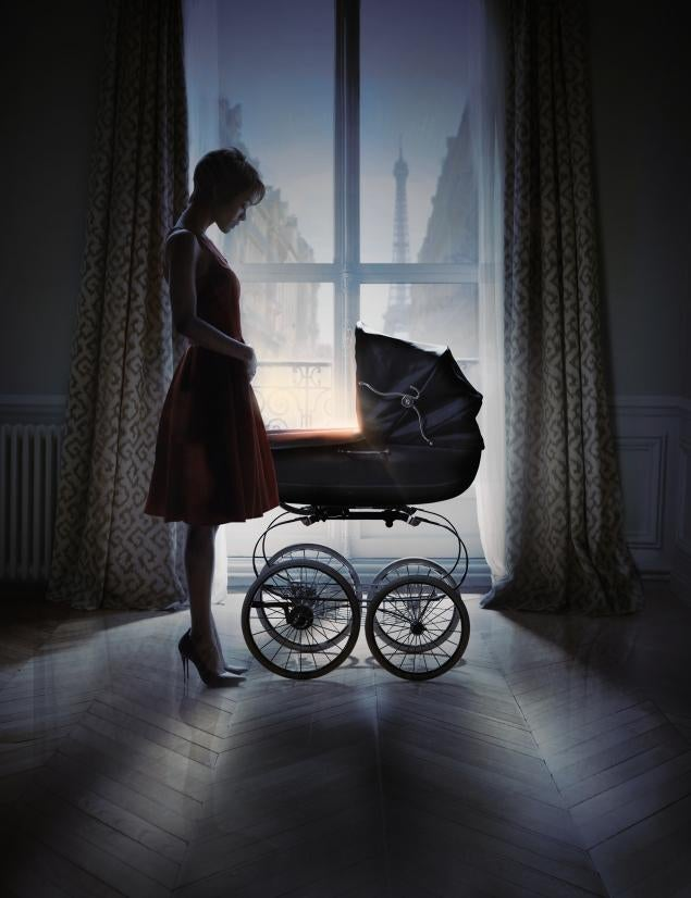 Zoe Saldana Looks Très Chic in the Rosemary's Baby Remake