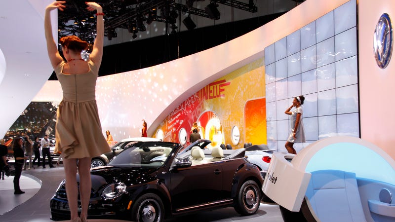 The Booth Professionals Of The LA Auto Show