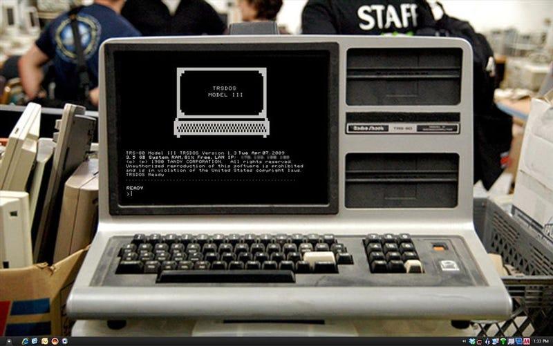 The TRS-80 Retro Desktop