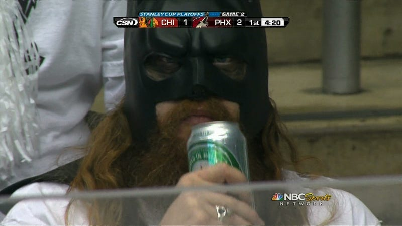 Bearded Batman Drinks Heineken, Probably Does Not Fight Crime