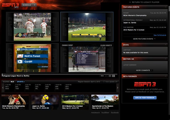 How to watch an unbroadcast live sporting event