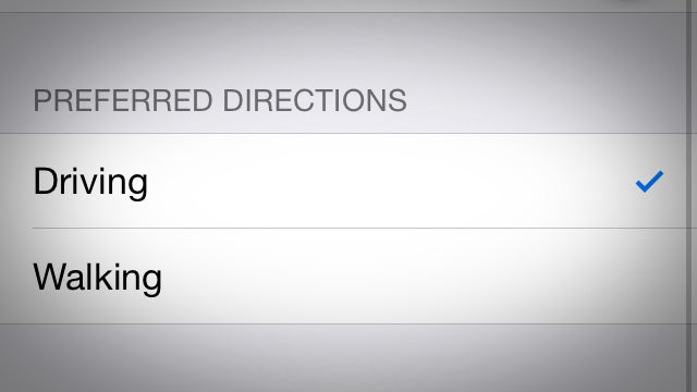 Set Walking Directions as the Default in Apple Maps