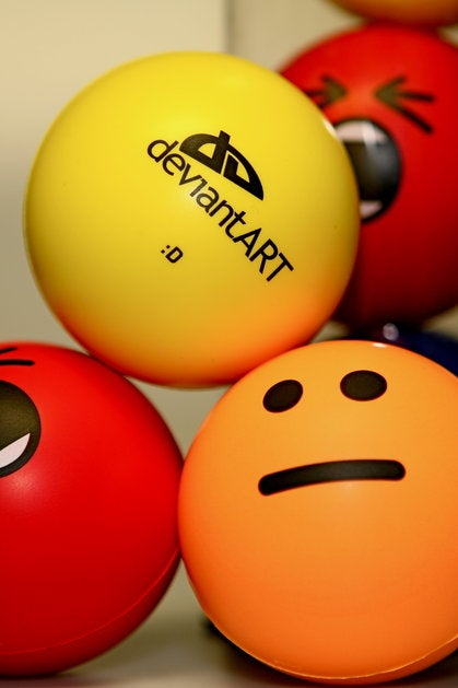 Squeeze Emoticon Stress Balls, Get Happy Ending