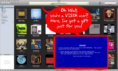 iTunes 8 Windows Vista BSoD Quietly Fixed by Apple