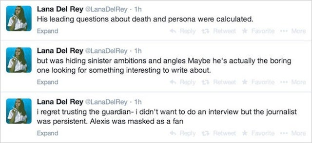 Lana Del Rey Wishes She Was Dead And Is Somehow Mad About It