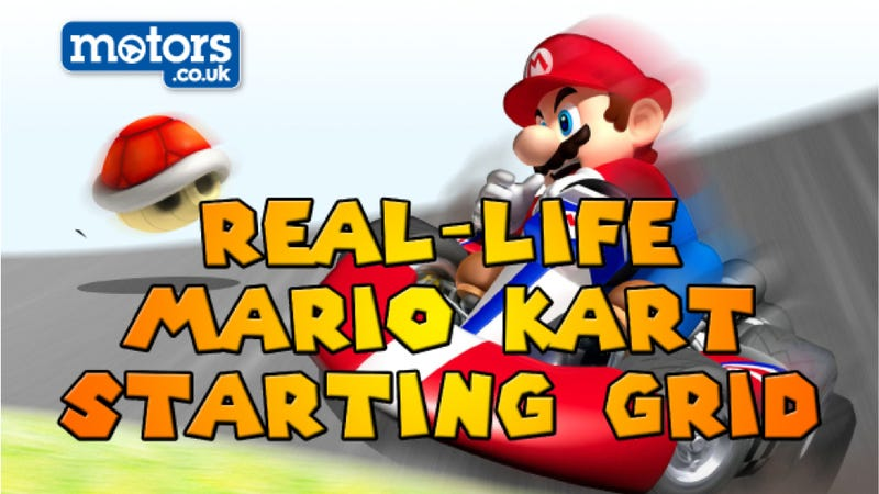 This Is What The Mario Kart Starting Grid Would Look Like In Real Life