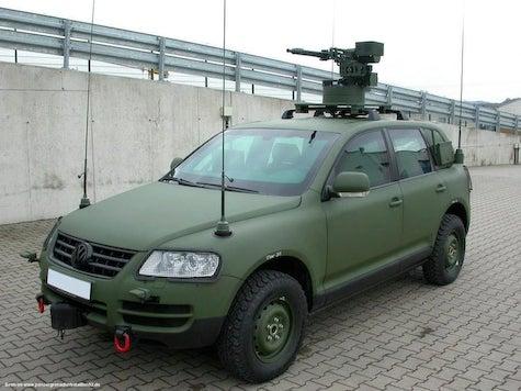 VW Touareg Gets Military Makeover