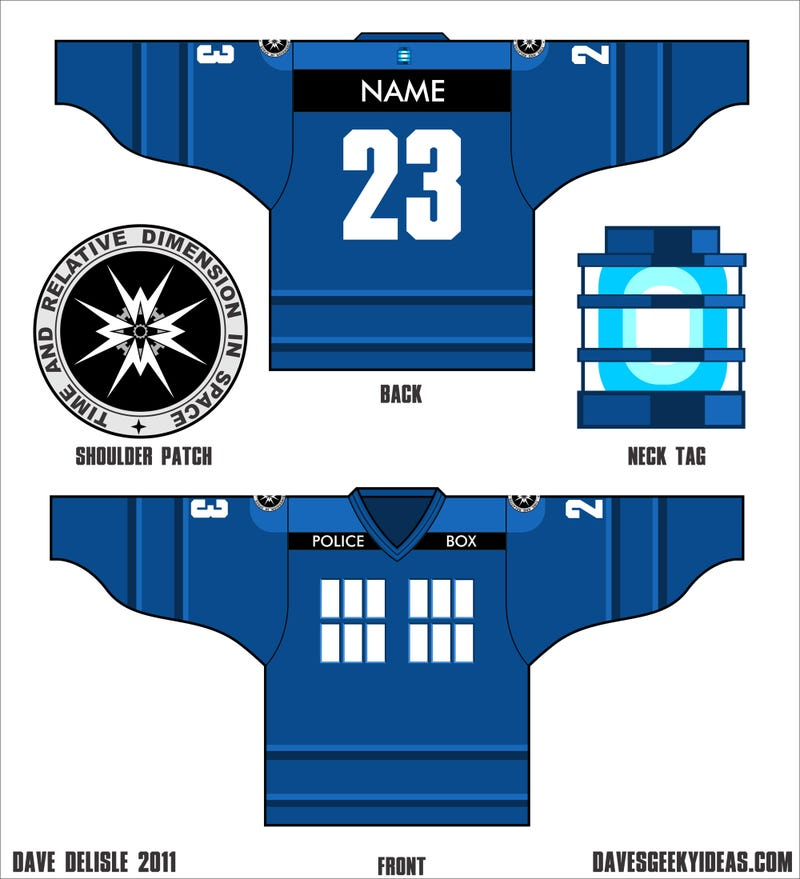 Support your favorite scifi or fantasy team in custom hockey jerseys