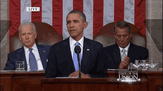 Joe Biden's Shit-Eating Grin is the GIF of the Union