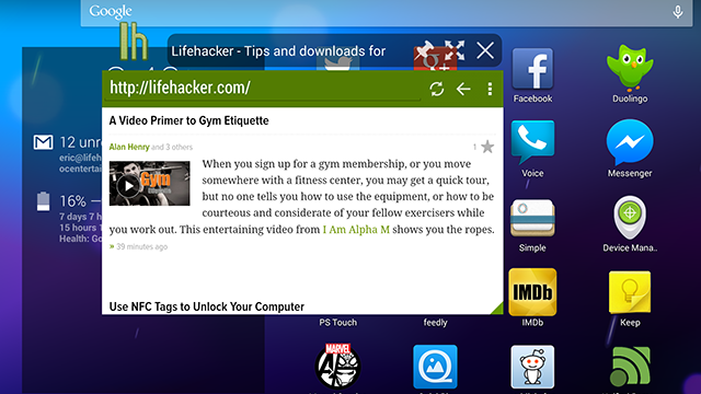Hover Browser is a Full-Featured, Floating Web Browser