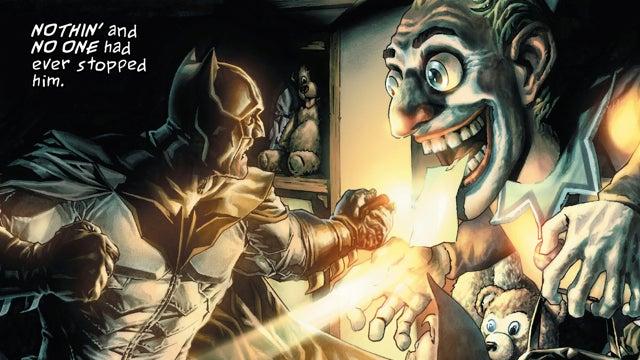 The Dark Knight plays Ebenezer Scrooge in Lee Bermejo's Batman: Noel