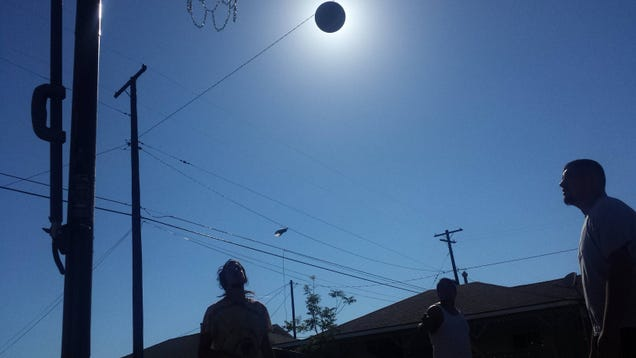This perfectly timed picture is not of a solar eclipse