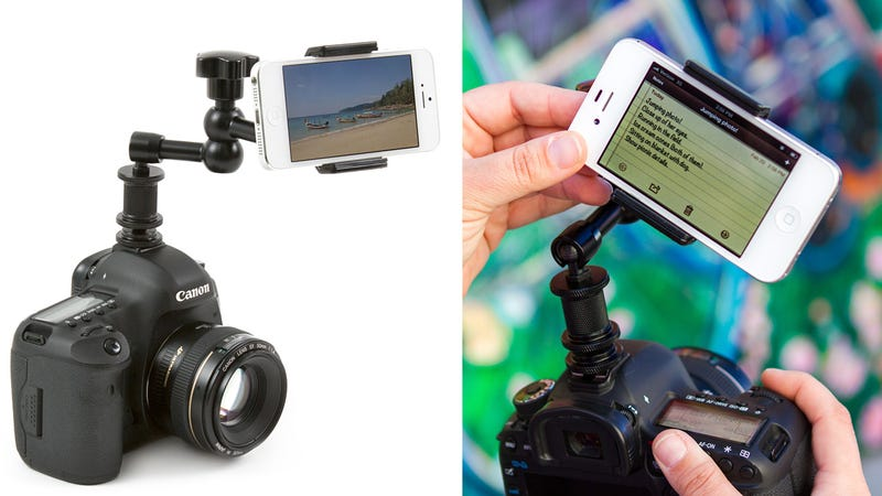 Smartphone DSLR Mount Makes Your Phone and Camera an Unstoppable Duo