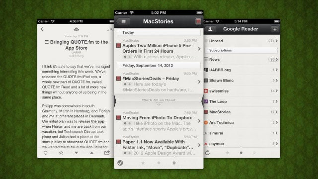 Reeder for iPhone Adds Support for Feedly, Is Currently Free